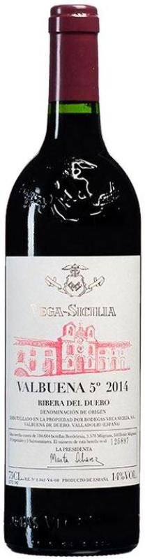 Botella de Vega Sicilia Valbuena 5º 2014